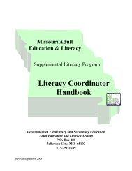 Literacy Coordinator Handbook - Jefferson College