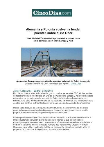 Alemania y Polonia vuelven a tender puentes sobre el río Oder