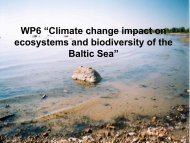 "WP6 ""Climate change impact on ecosystems and biodiversity of the ..."
