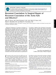 Recurrent Coarctation: Is Surgical Repair of Recurrent Coarctation ...
