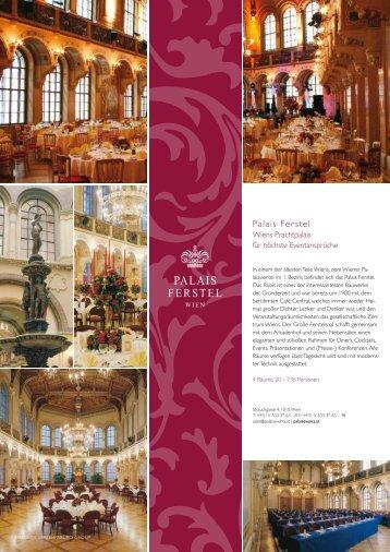 können Sie sich das Factsheet des Palais Ferstel als ... - Palais Events