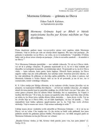 Mormona Grāmata — grāmata no Dieva - Jēzus Kristus ir ceļš