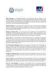 Bios CdF EN - Agence Française de Développement