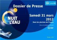 Dossier de Presse - Fédération Française de Natation