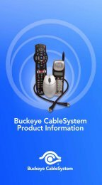 Download Buckeye Cablesystem Product Information