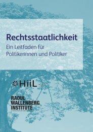Rechtsstaatlichkeit - Raoul Wallenberg Institute of Human Rights ...