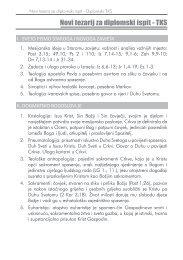 Novi tezarij za diplomski ispit - TKS