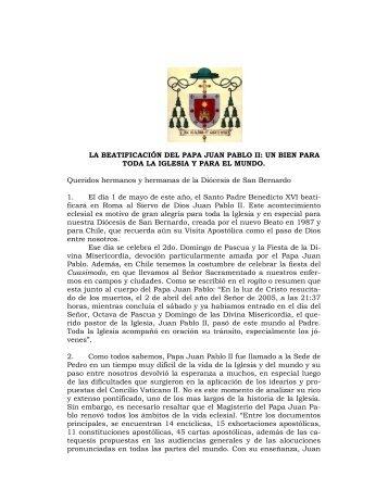 LA BEATIFICACIÓN DEL PAPA JUAN PABLO II: UN BIEN PARA ...