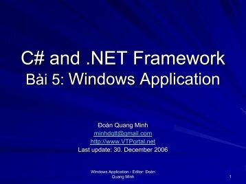 C# and .NET Framework - lib