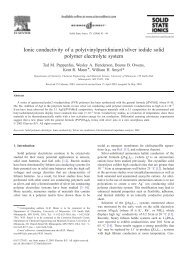 Ionic conductivity of a poly(vinylpyridinium)/silver iodide solid ...