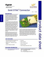 Gold STAX Connector - TE Connectivity