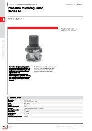 Camozzi pressure microregulator series M data sheet