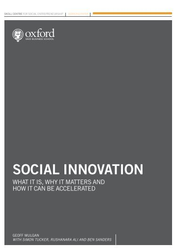 SOCIAL INNOVATION - State of New Jersey