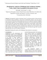 Morphometric Analysis of Shaliganga Sub Catchment, Kashmir ...
