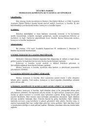 Merkezler, Komisyonlar, Kurullar Yönergesi - İstanbul Barosu