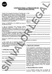 contrato para la prestación de servicios de hosting - Claro
