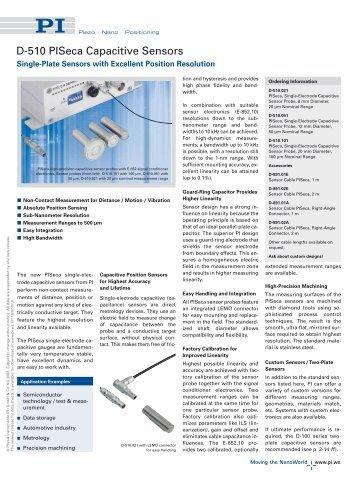 D-510 PISeca Capacitive Sensors (PDF)