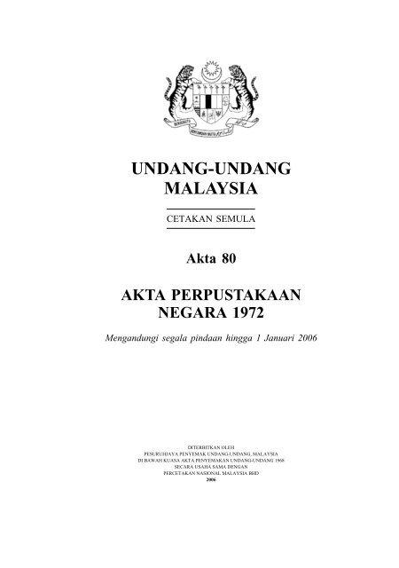 Akta Perpustakaan Negara 1972