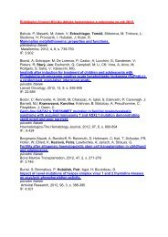 Publikační činnost v roce 2012 - Klinika dětské hematologie a ...