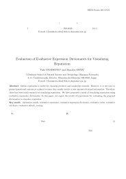 評判情報可視化のための評価表現辞書の有効性評価 Evaluation of ...