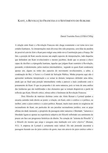 Kant e a Revolução Francesa