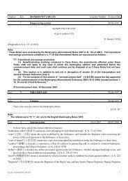 Cap 6A - BANKRUPTCY RULES