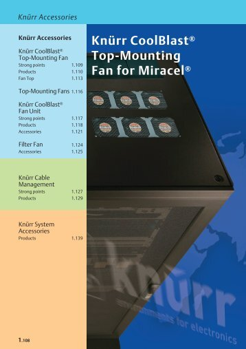 Knürr CoolBlast® Top-Mounting Fan for Miracel®
