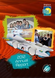 2012 Annual Report - Brighton Secondary School