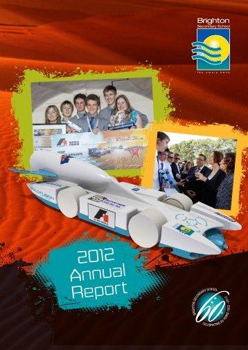 2012 Annual Report - Brighton Secondary School