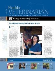 Florida Veterinarian, Fall 2008 (PDF) - University of Florida College ...