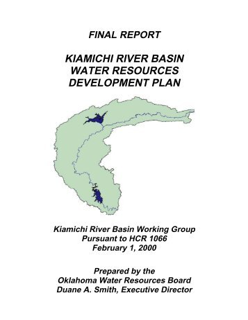 kiamichi river basin water resources development plan