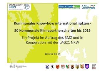 Präsentation von Jessica Baier - Eine Welt Netz NRW