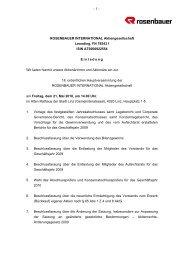 - 1 - ROSENBAUER INTERNATIONAL Aktiengesellschaft Leonding ...