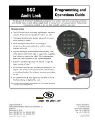 S&G Audit Lock - Sargent and Greenleaf
