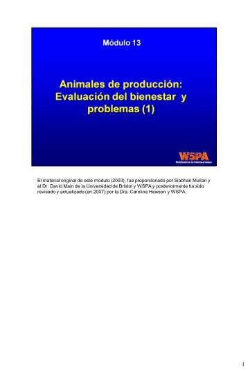 Concepts in Animal Welfare - Sociedad Mundial para la Protección ...
