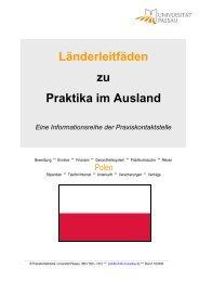 Länderleitfäden zu Praktika im Ausland Eine ... - Universität Passau