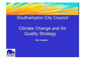 Southampton's Climate Change Strategy - IAPSC