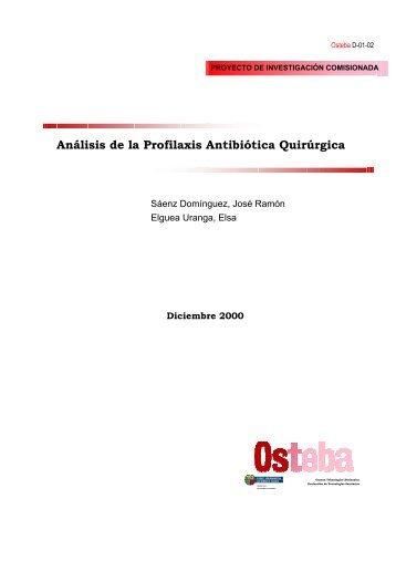 Análisis de la Profilaxis Antibiótica Quirúrgica - Euskadi.net