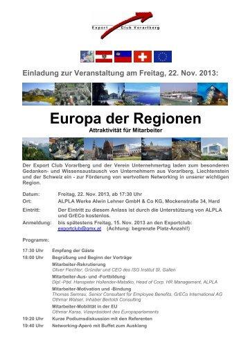 Einladung Vorarlberger Standortgespräch - Standortgespräch 2013