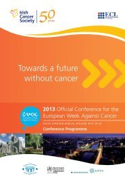 Towards a future without cancer - Institute of Public Health in Ireland