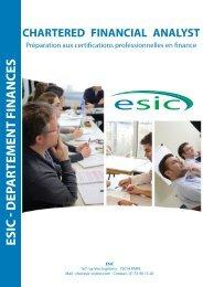 certifications professionnelles en finance - Groupe ESIC