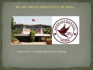 we are proud apeejayites of india - Apeejay Education Society