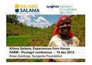 The Kilimo Salama program in Kenya - Fondation FARM