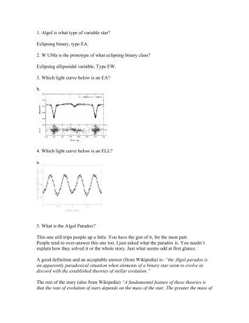 CHOICE Quiz 2 Answer sheet - AAVSO
