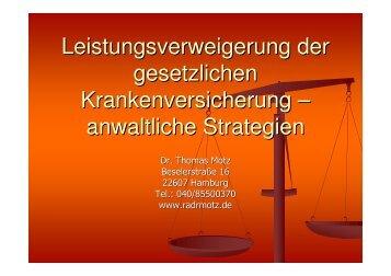 Vortrag - Medizinrechts-Beratungsnetz