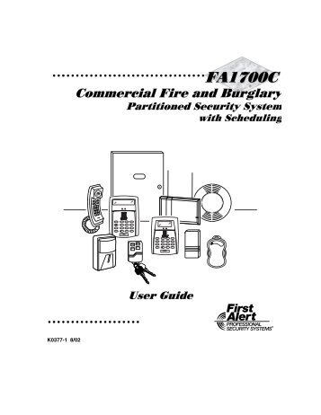 first alert fa 1600c security networks rh yumpu com Instruction Manual Example User Manual PDF