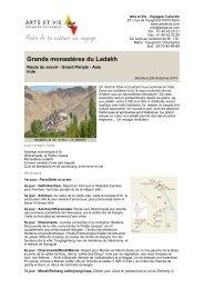 Grands monastères du Ladakh - Arts et Vie