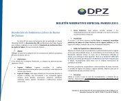 boletín normativo especial marzo 2011 - cpzulia.org