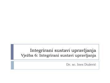 Integrirani sustavi upravljanja Vježba 9: PAS 99