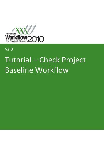 NW4PS Tutorial Check Project Baseline Project